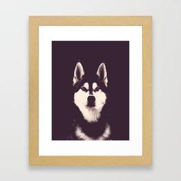 Vintage Oil Painting Husky Dog Special Design for Dog Lovers Framed Art Print