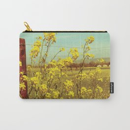 Spring Breeze (Mustard Plants and Cottage) Carry-All Pouch