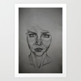 Trying to see myself Art Print