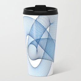 Abstract blue knot - 3D rendering Travel Mug