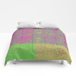 City Grid in Orchid-Lime Comforters