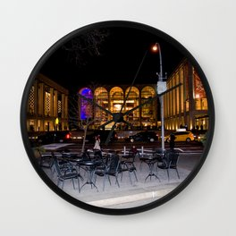 Dante Park and Lincoln Center Wall Clock