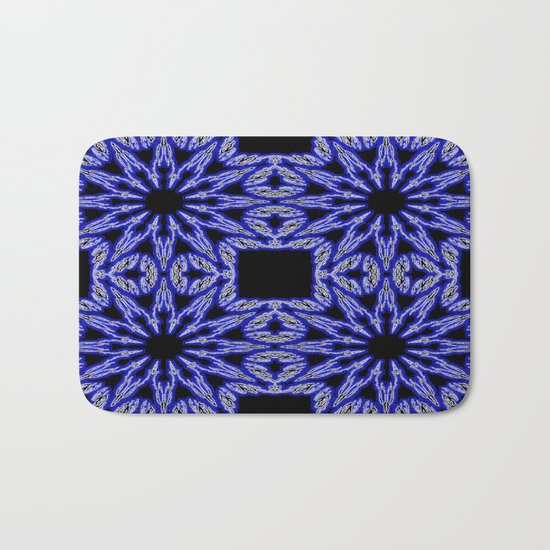 Blue & Black Electric Color Burst Bath Mat
