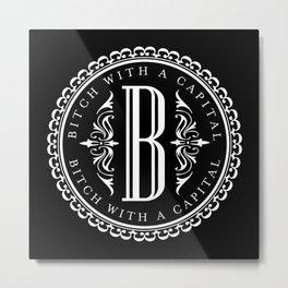 Capital B Metal Print