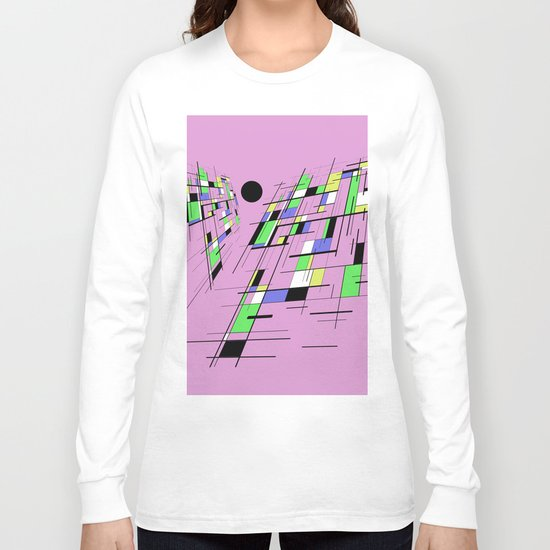 Bad perspective - Abstract, vector, geometric, 3D style artwork Long Sleeve T-shirt