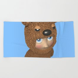 Furry baby Beach Towel