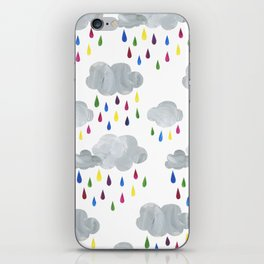 Rainbow Rain Clouds iPhone Skin
