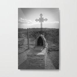 Grave in Terlingua Ghost Town Cemetery Metal Print