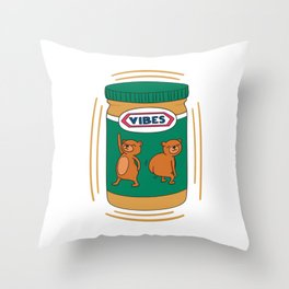 Peanut Butter Vibes - Smooth Throw Pillow