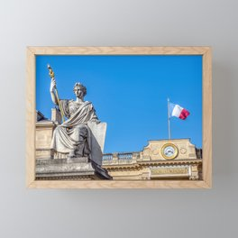 French National Assembly an Law statue in Paris Framed Mini Art Print
