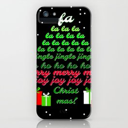 Fa la la Joy Christmas iPhone Case