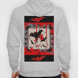 BLACK BATS & HALLOWEEN BLOODY ART DESIGNED Hoody