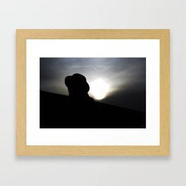 Myterious Stranger Framed Art Print
