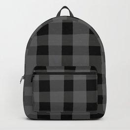 Black Pop Plaid Backpack