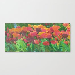 Tulips even make instant coffee taste better. Okay, I lied. Canvas Print