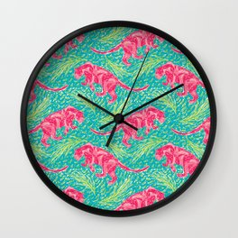 Pink Panther Jungle Scape Wall Clock