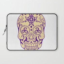 Mexican Skull  With Triskele and Celtic Cross Tattoo Laptop Sleeve