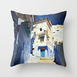 Chaouen street Throw Pillow