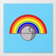 Death Star Rainbow Canvas Print