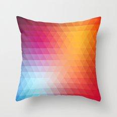 Retro  geometric shapes Throw Pillow