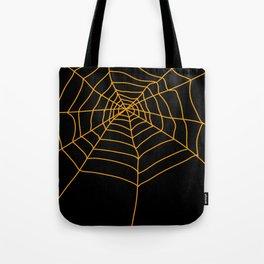 Spider Web - Halloween Orange and black Tote Bag