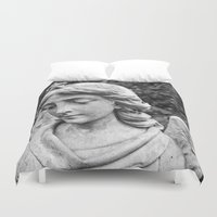 angel Duvet Covers featuring Angel by Mark Nelson