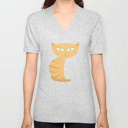 Mysterious Cat Unisex V-Neck
