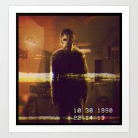 michael myers Art Prints featuring Michael Myers VCR by Cinemamind