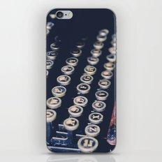 typewriter keys iPhone & iPod Skin