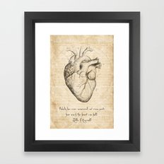 Heart Quote By Zelda Fitzgerald Framed Art Print