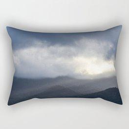 Light Streaming over mountains Rectangular Pillow