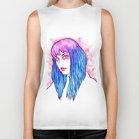 candy Biker Tanks featuring candy by fixthesky