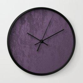 Purple Velvet Wall Clock