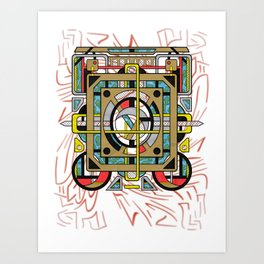 Switchplate - Surreal Geometric Abstract Expressionism Art Print