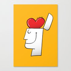 A Heart in my Head Canvas Print