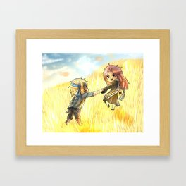 Chibi Nalu Genderbent Golden Glasslands Framed Art Print