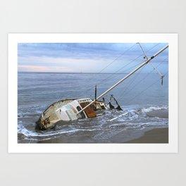 "Sailboat ""Beached Sailboat"" Art Print"