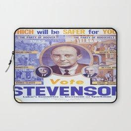 Vintage poster - Adlai Stevenson Laptop Sleeve