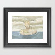 Island King Framed Art Print