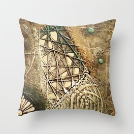 Ancient Past Connection Throw Pillow