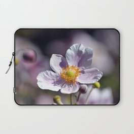 Pretty in White and Purple Laptop Sleeve