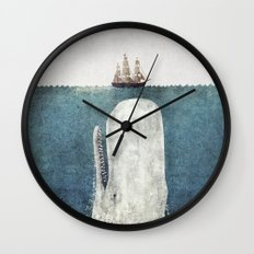The Whale - vintage  Wall Clock