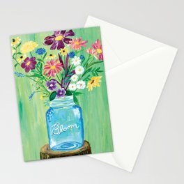 Bloom Mason Jar Stationery Cards