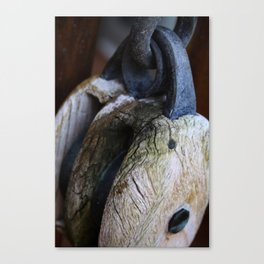 Antique Pulley Canvas Print