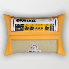 Bright Orange color amplifier amp Rectangular Pillow