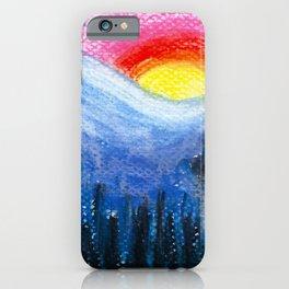Colorful Sunset Landscape iPhone Case