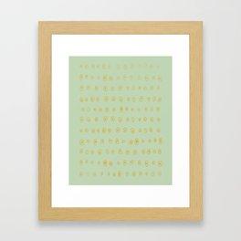 Salt Framed Art Print