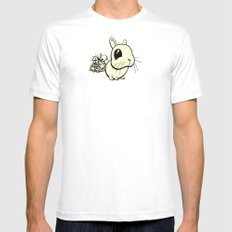 Bunny White Mens Fitted Tee MEDIUM