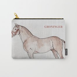 GRONINGEN HORSE - Beige Carry-All Pouch