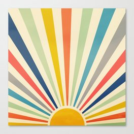 Sun Retro Art III Canvas Print